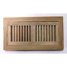 "4-1/2"" x 14-1/8"" Red Oak Flush Mount Wood Vent in Unfinished"