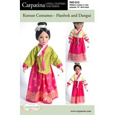 Clothes Pattern Doll Korean Hanbok and Dangui
