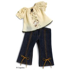 American Girl Dolls Fun Chic Peasant Blouse and Jeans