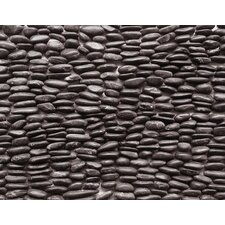 "Standing Pebbles 12"" x 4"" Interlocking Mesh Tile in Mona"