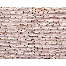 "Standing Pebbles 12"" x 4"" Interlocking Mesh Tile in Tesserat"