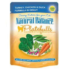 Platefulls Turkey, Chicken and Duck In Gravy Cat Food Pouch  - 3 oz.