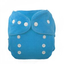 Duo Fab Fitted Diaper Snap in Ocean Blue