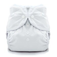 Duo Wrap Snap Diaper in White