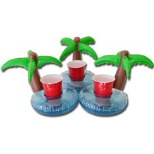 Floating Palm Island Drink Holder (Set of 3)
