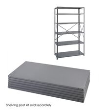 "24"" Industrial Steel Shelving in Dark Gray"