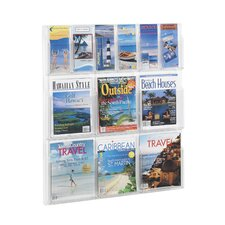 "Reveal Clear Literature Displays, 12 Compartments, 34.75"" High"