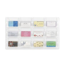 Safco Business Card Holder with 12 Pockets