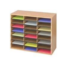 Medium Wood/Corrugated Literature Organizer