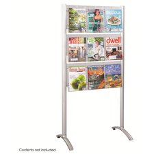 Luxe Magazine Rack, 9 Compartments