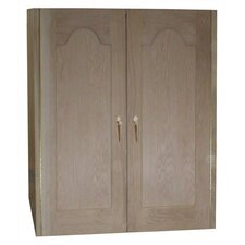 2 Door Oak Wine Cooler Cabinet with Furniture Trim