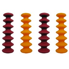 Epicureanist Flexible Wine Bottle Stoppers (Set of 4)