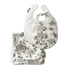Woodland Tumble Mocha 2 Bibs/Burp Set
