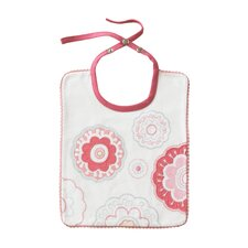 Zinnia Rose Embroidered Bib