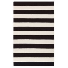 Draper Stripe Black Rug