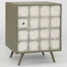 Franklin Side Cabinet in Silver Leaf