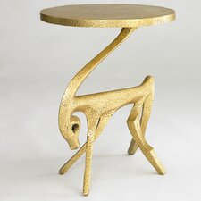 Gazelle Side Table in Antique Gold