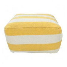 Stripe Lemon Pouf