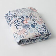 Meadow Powder Blue Fitted Crib Sheet