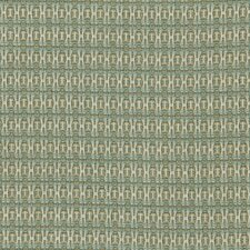 Locking Dots Fabric - Turquoise