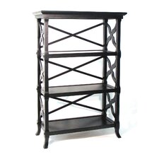 "Baron 47"" H Three Shelf Book Stand in Black"