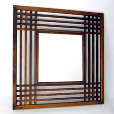 Plantation Mirror in Distressed Brown