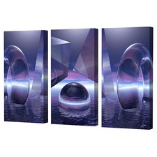 Moonlight Triptych Limited Edition Canvas - Scott J. Menaul (Set of 3)