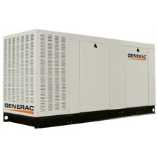 70 Kw Liquid-Cooled Three Phase 277/480 V Natural Gas Standby Generator with Catalytic Converter in Aluminum