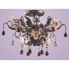 Cristallo Fiore Semi Flush Mount