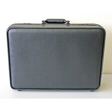 Deluxe Soft Molded Attache Case in Black: 12.5 x 18 x 3.5