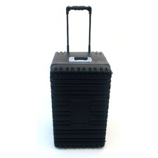 Transporter Tool Case with Wheels and Telescoping Handle in Black: 17 x 27.25 x 15.25
