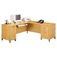 "Somerset 71"" W L-Shape Desk"