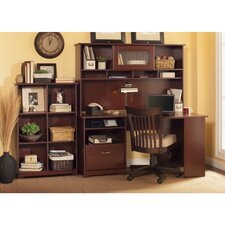 Cabot Corner Desk  with Hutch and Bookcase