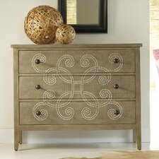 Melange Curlacue 3 Drawer Chest