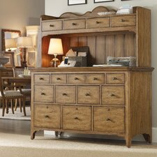 "Chic Coterie 60"" Executive Desk with Hutch"