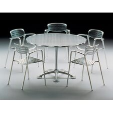 Jorge Pensi 5 Piece Round Table with Toledo Stacking Chairs