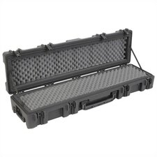 "Mil-Standard Roto Case w/ Dual Layer Foam and Wheels in Black: 52.5"" L x 12.125"" W x 8"" D (inside)"