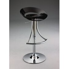 Swivel Barstool with Gas Lift in Black Acrylic