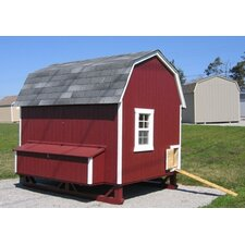 6 x 8 Gambrel Barn Chicken Coop