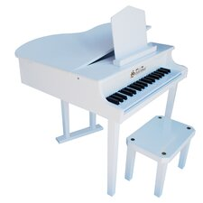 Concert Grand Piano with Opening Top in White