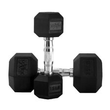 5 lbs - 50 lbs Rubber Hex Dumbbell Set