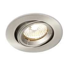 Shield One Light Fire Rated LV Tilt Recessed Downlight in Satin Nickel