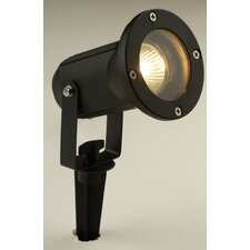 Opaz Spike Single Outdoor Spotlight in Matt Black