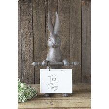 Resin Hare with Ceramic Message Board