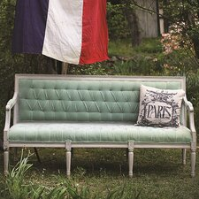 Upholstered Velvet Wood Garden Bench