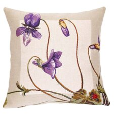 French Tapestry Violettes Cotton Pillow