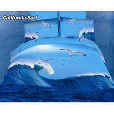 California Surfing Egyptian Cotton Duvet Cover Set