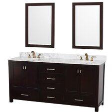 "Abingdon 73"" Double Bathroom Vanity Set"