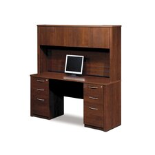 Embassy Credenza And Hutch Kit Including Assembled Pedestals