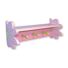 Darling Daisy Shelf with 3 Peg Hooks